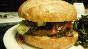 Nut & Bean Veggie Burger... one of the best burgers I have ever had!